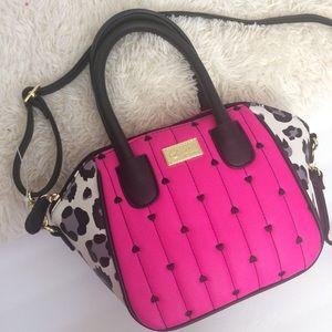 Luv Betsey Johnson hot pink small satchel bag